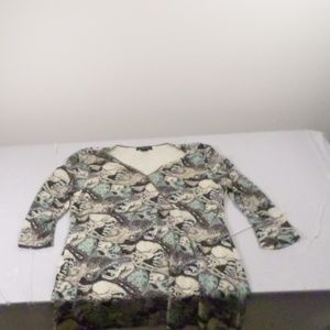 Style & Co 3/4 Sleeve Tunic Top Large